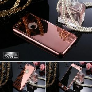 360 Degree Whole Protective Mirror Phone Case for iPhone with Tempered Glass Screen Protector pictures & photos