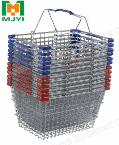 Supermarket Chrome Wire Shopping Basket pictures & photos