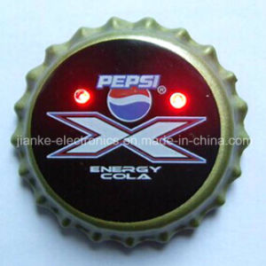 Advertising Beer Cap LED Badge Pin with Logo Print (3569) pictures & photos