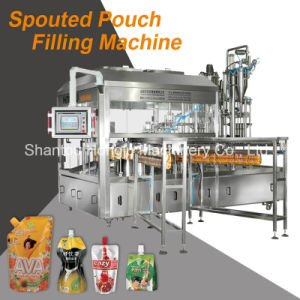Liquid Filling and Cap Screwing Machine for Spouted Pouch