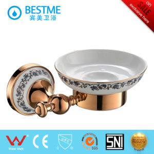 Brass Bathroom Accessories Luxury Ceramic Soap Holder pictures & photos