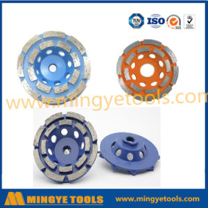 Colors Diamond Tools Double Row Grinding Wheel for Floor Grinding pictures & photos