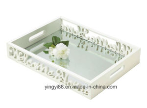 New Design Wood Serving Tray with Handles pictures & photos