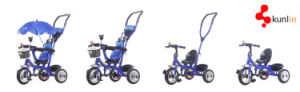 4 in 1 Roating Seat Baby Tricycle with Pedal, EVA Wheel Baby Tricycle, Good Air Tire Baby Trike pictures & photos