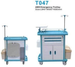 Aluminium ABS Emergency Hospital Trolley for Patient Treatment pictures & photos