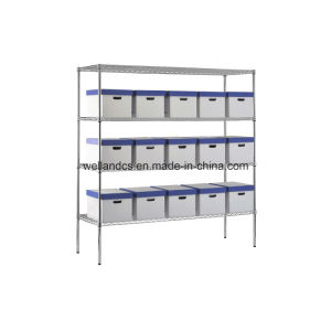 Adjustable Chrome Metal Storage Wire Shelving Rack for Factory/Warehouse pictures & photos
