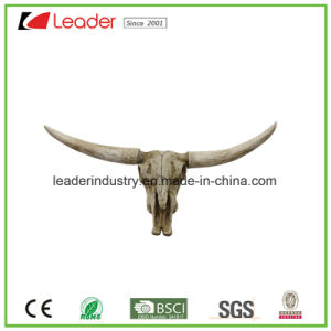 Polyresin Bull Head Decorative Statue for Home and Wall Decoration pictures & photos