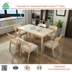 Excellent-Performance Wooden Dianing Room Chair Parts, Environmental Table Dining Room Furniture Sets pictures & photos