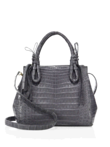 Medium Double Tie-Knot Crocodile Tote Hand Bag (BDMC120) pictures & photos