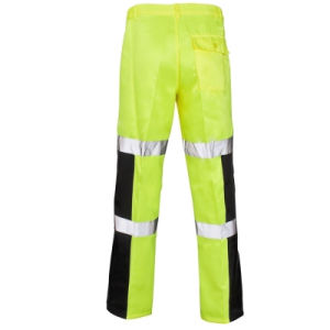 100% Cotton High Visibility Work Pants of Yellow pictures & photos