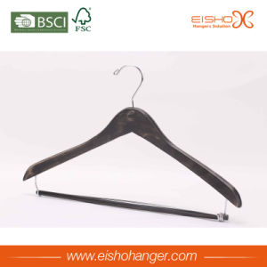 Hotel Wooden Hanger with Pant-Locking Bar (MC024) pictures & photos
