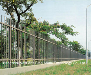 Haohan Black Simple Industrial Residential Security Garden Galvanized Steel Fence 34 pictures & photos