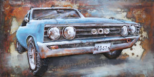 Car 3 D Metal Oil Painting pictures & photos