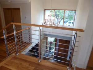 Stainless Steel Balustrade with Solid Rod Bar / Stainless Steel Stair Railing pictures & photos
