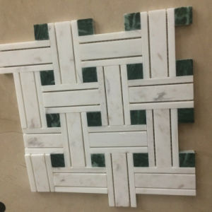 Building Material Mixed Color Natural Marble Stone Mosaic Floor Tile pictures & photos