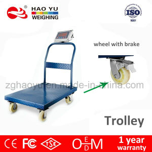 Digital Trolley Platform Scale with Stainless Steel Keyboard pictures & photos