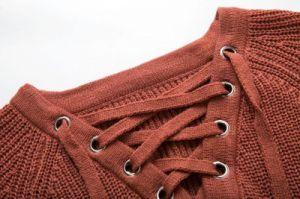 Women Irregular Tassel Knitted Cardigan Loose Sweater pictures & photos