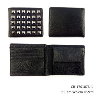 Wholesale Low Price Men′s Leather Wallet with High Quality (CB-1701076-1)