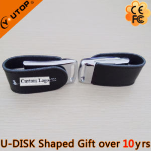 Coining and Silkscreen Logo Leather Gift USB Flash Memory (YT-5116) pictures & photos