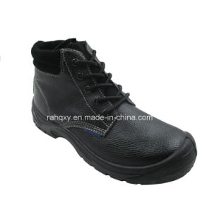 Full Leather and Suede Lining Safety Shoes (HQ03021) pictures & photos