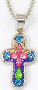 Hot Sale Factory Price Colourful Cross Synthetic Opal Pendant Jewelry pictures & photos