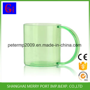 Transparent Plastic Mug with Handle for Kids and Adult pictures & photos