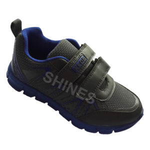 Grey Kids Sport Shoes with Hot Carve Upper for Boys