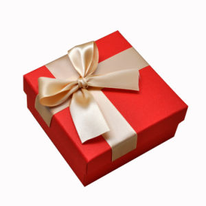 Full Color Custom Paper Gift Packaging Box with Silk Ribbon pictures & photos
