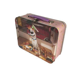 Handle Tin Box Customized Metal Tin Container for Promotion pictures & photos