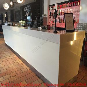 Australia Modern Design Marble Bar Top Design LED Illuminated Light Artificial Marble Bar for Buffet Countertop pictures & photos