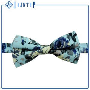 Hot Slae Printed Flower Good Quality 100% Silk Bow Tie pictures & photos