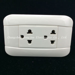 South America High Quality ABS Material Copper Cotact Wall Socket (G819) pictures & photos