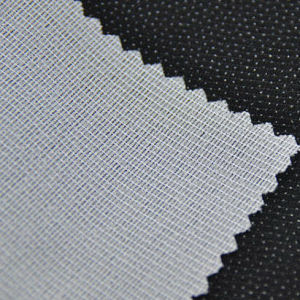 100% Polyester Warp Knitted Fusible Adhesive Interlining in 40GSM pictures & photos