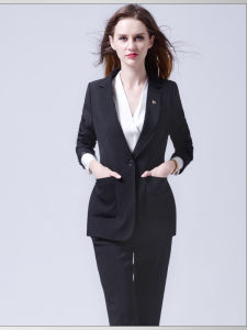 Made to Measure Lady Fashion Black Suit Blazer pictures & photos