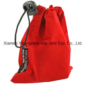 Fashion Personalized Red Velvet Fabric Packing Gift Bag pictures & photos