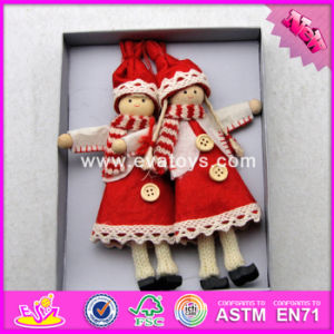 2017 New Products Lovely Dolls Wooden Kids Christmas Toys W02A238 pictures & photos