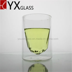 320ml New Design Borosilicate Glass Cup with Polygonous Bottom/Personal Double Wall Glass Cup /Clear Coffee Espresso Cup