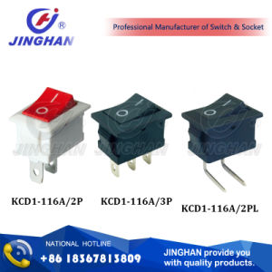Kcd1-116A Sp St 2p Mini Rocker Switch Waterproof 10A pictures & photos