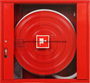 Metal Fire Hose Reel Cabinet with Glasss Door/Metal Fire Protection Cabinet pictures & photos
