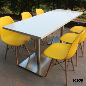 Modern 4 Seaters Acrylic Solid Surface Dining Table pictures & photos