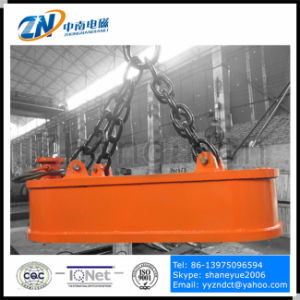 Oval Shape Electromagnetic Lifter for Steel Scrap Unloading From Narrow-Space 60% Duty Cycle MW61 pictures & photos