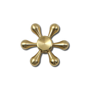 New Design Six Winged Fidget Spinner Relieve Stress Fidget Toys Hexagonal Brass Hand Spinner pictures & photos