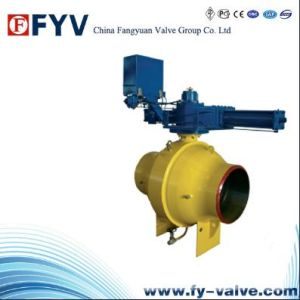 API6d Pneumatic Steel Fully Welded Ball Valve pictures & photos