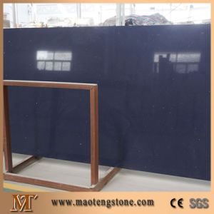 Artificial Stone Glass Series Silver Star Blue Artificial Marble Slab pictures & photos