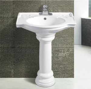 Hot Sale Modern Bathroom Ceramic Pedestal Basin pictures & photos
