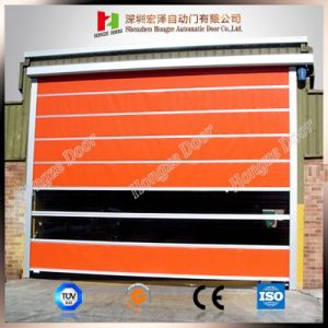 Interior Automatic Industrial Open Style Fast Rolling Exterior Position PVC Door (Hz-FC028) pictures & photos