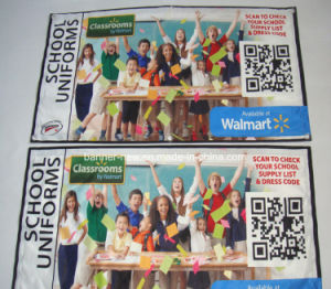 Advertising Shiny Full Color Polyester Fabric Banners (SS-SF-85) pictures & photos