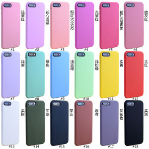 1.4mm Solid Candy Color Soft TPU Phone Case for iPhone6/7 pictures & photos