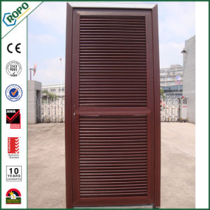 Various Colours of UPVC French Wood Door for Bathroom and Toilet pictures & photos