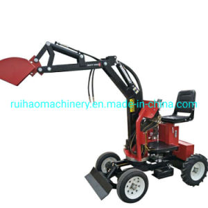 Mini Backhoe Tractor Loader Digger Excavator Trencher for Agricultural Machine